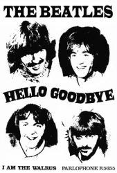 Beatles poster: Hello Goodbye/I Am the Walrus (23 1/2'' X 33'')