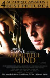 A Beautiful Mind movie poster [Russell Crowe] 27x40 video version