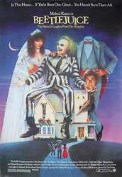 Beetlejuice movie poster [Michael Keaton, Geena Davis & Alec Baldwin]