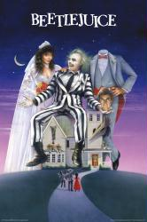 Beetlejuice movie poster [Michael Keaton, Geena Davis] 24x36