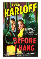 Before I Hang movie poster [Boris Karloff, Evelyn Keyes] 18 X 24