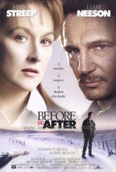 Before and After poster [Meryl Streep, Liam Neeson & Edward Furlong]