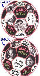 Bend It Like Beckham: 6'' round Soccer Ball ad slick (2-sided) NM