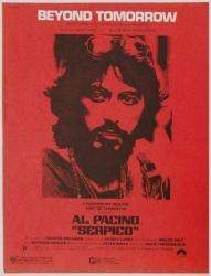Beyond Tomorrow vintage sheet music [Al Pacino] Serpico (1973)