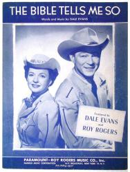 The Bible Tells Me So vintage sheet music [Dale Evans & Roy Rogers]