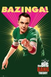 The Big Bang Theory poster: Sheldon Cooper [Bazinga!] 24'' X 36''