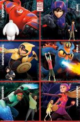 Big Hero 6 movie poster (22x34) Character Grid