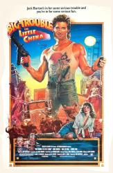 Big Trouble in Little China movie poster [Kurt Russell] 24x36