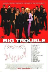 Big Trouble movie poster [Tim Allen, Omar Epps & Rene Russo] red