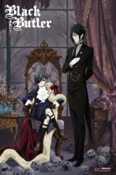 Black Butler poster: Sebastian & Ciel (24x36) Kuroshitsuji anime