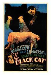 The Black Cat Movie Poster Boris Karloff Bela Lugosi 18 X 24