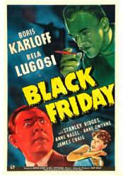 Black Friday movie poster [Boris Karloff & Bela Lugosi] 18 X 24