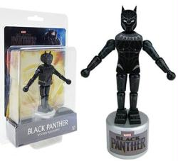 Black Panther movie: Black Panther Wooden Push Puppet figure