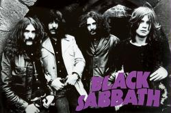 Black Sabbath poster: B&W Group Shot 1970 (36x24)