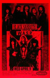 Black Sabbath with WASP poster: 1986 concert repro 11x17 poster