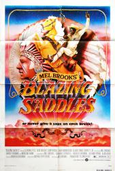 Blazing Saddles movie poster [Mel Brooks] 27x41 original 1974