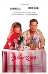 Blind Date movie poster [Kim Basinger & Bruce Willis] original 27 X 41