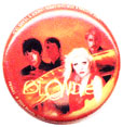 Blondie pinback: Deborah Harry & Group shot (1'' Button)