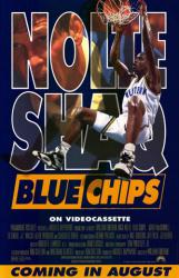 Blue Chips movie poster [Nick Nolte & Shaquille O'Neal] video version