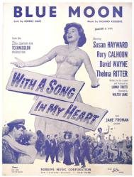 Blue Moon vintage sheet music [Susan Hayward] 1952 Rodgers & Hart