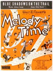 Blue Shadows On the Trail vintage sheet music [Disney's Melody Time]