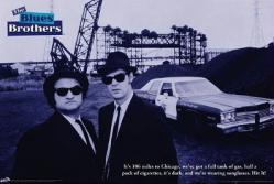The Blues Brothers movie poster [John Belushi/Dan Aykroyd] 36'' X 24''