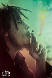 Bob Marley poster: Rasta Smoke (24x36)
