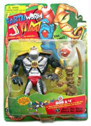 Earthworm Jim: Bob & #4 action figure set (Playmates/1995)