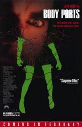 Body Parts movie poster [Jeff Fahey] 27x40 video version