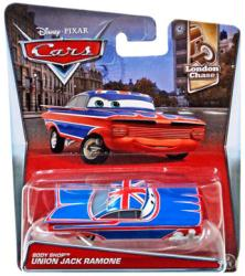 Cars London Chase: Body Shop Union Jack Ramone 1:55 die-cast vehicle