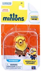 Minions: Bored Silly Stuart poseable figure (Thinkway Toys)
