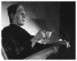 Boris Karloff print: Frankenstein Tea (32x26) Fine Art Reproduction