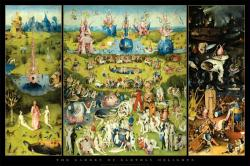 Hieronymus Bosch poster: The Garden of Earthly Delights (36'' X 24'')