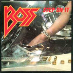 Boss poster: Step On It vintage LP/Album flat