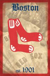 Boston Red Sox poster: Retro Logo (MLB) 22 1/2'' X 34''