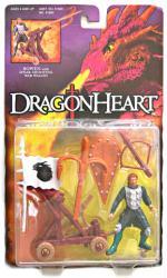 Dragonheart: Bowen action figure w/ Spear-Shooting War Wagon (Kenner)