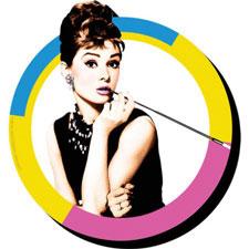 Audrey Hepburn Funky Chunky Magnet (Breakfast At Tiffany's)