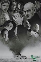Breaking Bad poster: Collage [Bryan Cranston & Aaron Paul] 24x36