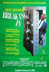 Breaking In movie poster (1989) [Burt Reynolds] 27x39 video version
