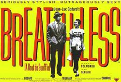 Breathless movie poster [Jean Seberg] Jean-Luc Godard (40x27)