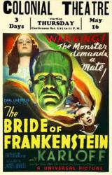 The Bride of Frankenstein movie poster [Boris Karloff] Colonial