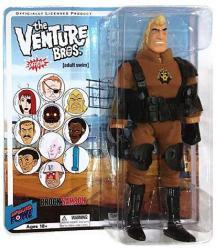 "The Venture Bros: Brock Samson SPHINX outfit 8"" figure (Bif Bang Pow)"
