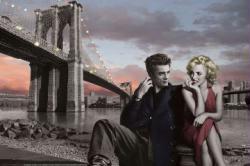 Brooklyn Bridge poster: Consani [James Dean & Marilyn Monroe] 36 X 24