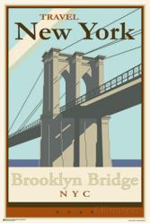 Brooklyn Bridge poster: Travel New York (24x36) NYC
