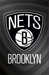 Brooklyn Nets logo poster (NBA) 22 1/2'' X 34''