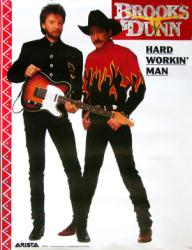 Brooks & Dunn poster: Hard Workin' Man (17x22) 1993 promo poster