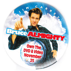 Bruce Almighty pinback [Jim Carrey] 3'' Round Button