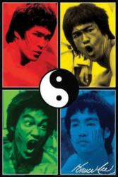 Bruce Lee poster: Yin Yang (24x36) Color Quad