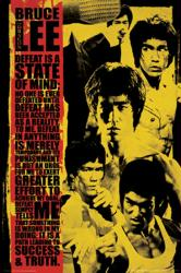 Bruce Lee poster: Defeat Is a State of Mind (24x36)