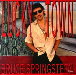 Bruce Springsteen poster: Lucky Town/Human Touch vintage LP/Album flat